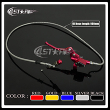 Red 900MM Hydraulic Foldable Clutch Levers Master Slave Cylinder Fit ATV Motorcycle Dirt Pit Bike 50cc-125cc Horizontal Engine