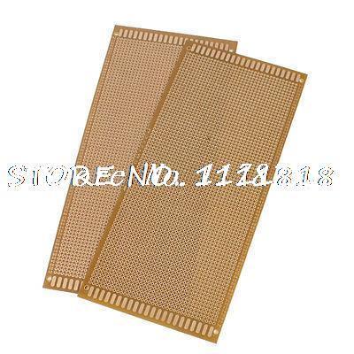 10cm x 22cm DIY Panel Universal Rectangle PCB Print Circuit Veroboard 2 Pcs plastic solderless breadboard 840 tie point pcb panel 175 x 67 x 8mm