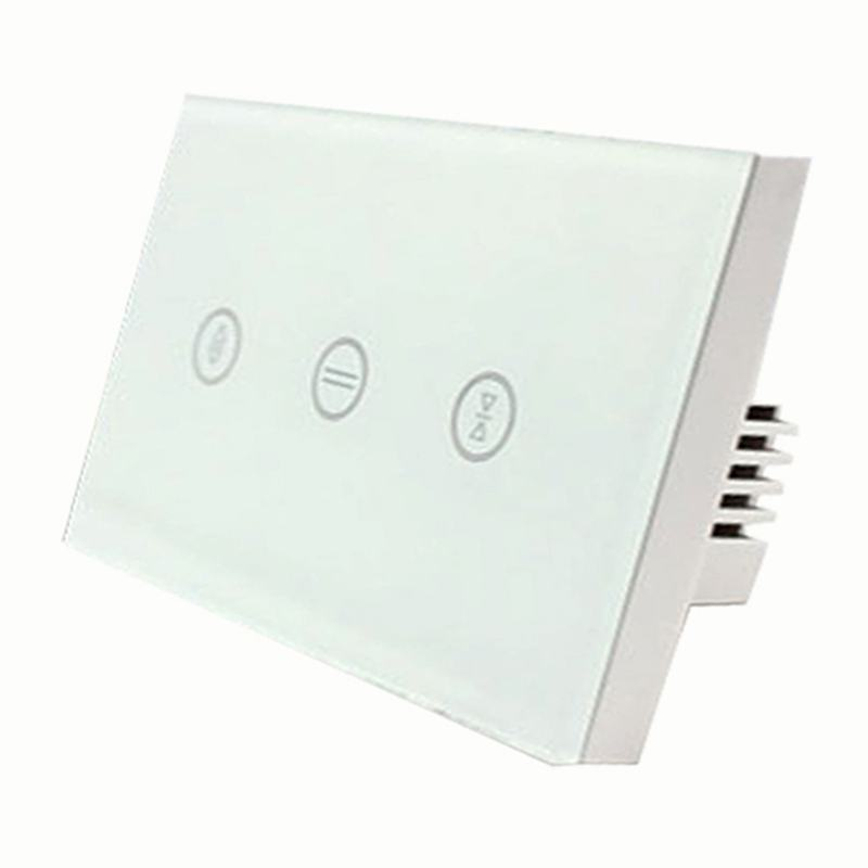 EU Wifi Smart Touch Curtain Switch Voice Control By Alexa And Google Phone Control For Electric Curtain Motor