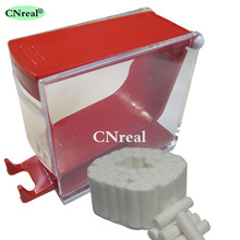 1 pc Dental Cotton Roll Dispenser & 50 pcs Press-type Red