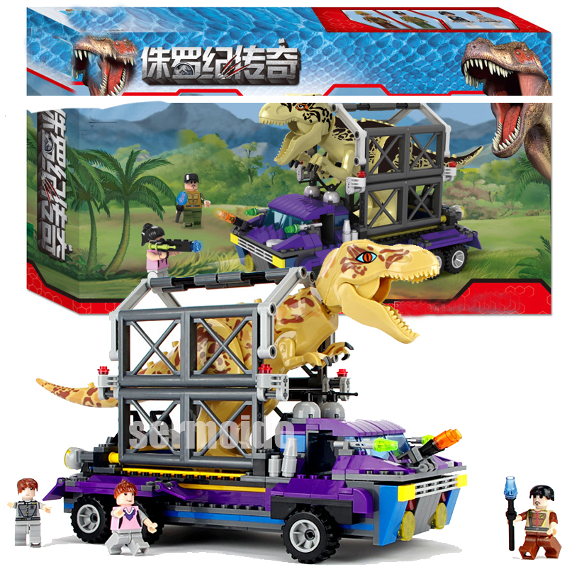 385PCS Jurassic Dinosaur World Figures Tyrannosaurs Rex Building Blocks Compatible Legoings Dinosaur Toys For Children DBP504 fopcc 2pcs sets 79151 jurassic dinosaur world figures tyrannosaurs rex building blocks compatible with dinosaur toys legoings
