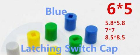 Active Components 1000pcs Blue Cap For 5.8x5.8 7x7 8.5x8.5 Latching Switch Self-lock Push Button Switch Spare No Cost At Any Cost
