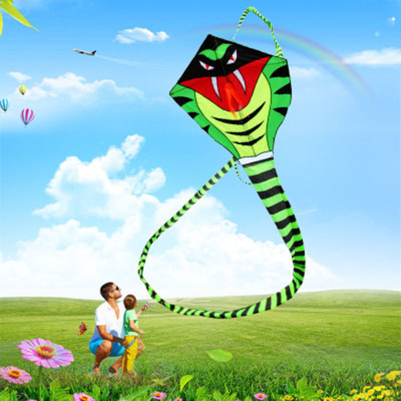 30m Tail Snake Kite Cobra Kite With Kite Hand Line  Outdoor Fun Sports toy Easy To Fly30m Tail Snake Kite Cobra Kite With Kite Hand Line  Outdoor Fun Sports toy Easy To Fly