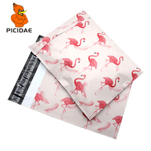 Poly Mailer Shipping Envelope Packaging Plastic Bag By Courier Store Self-Adhesive Courier box gift Export Pe Printing Flamingo white bubble protection waterproof buffer anti fall pe packaging bag kraft paper logistics courier package envelope poly mailer