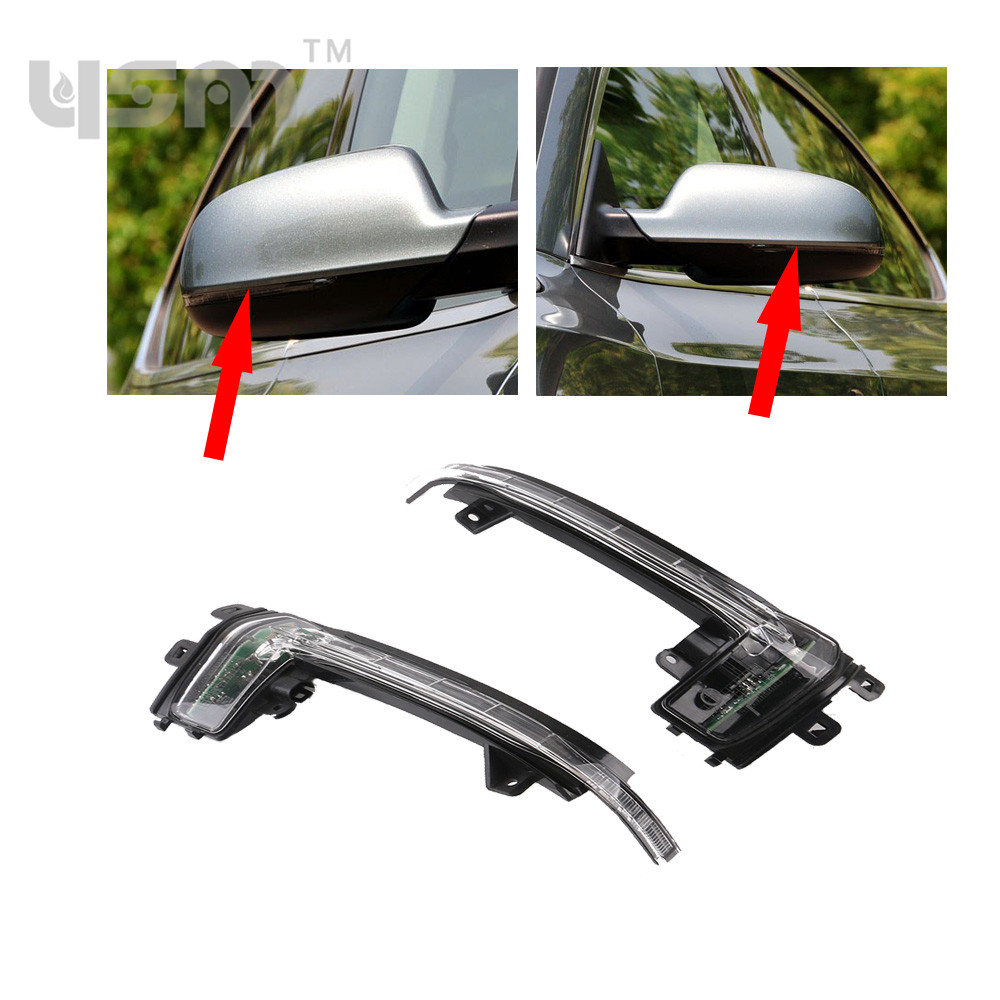 NEW Right & Left Wing Mirror Indicator Turn Signal Light Lamp For Audi A4 S4 B8 A5 S5 8K0949101C 8K0 949 101 C 8K0 949 102 C genuine 1set chrome window mirror trunk switch button combo for audi a6 a7 c7 q3 4g0 959 851 b 4gd 959 565 a