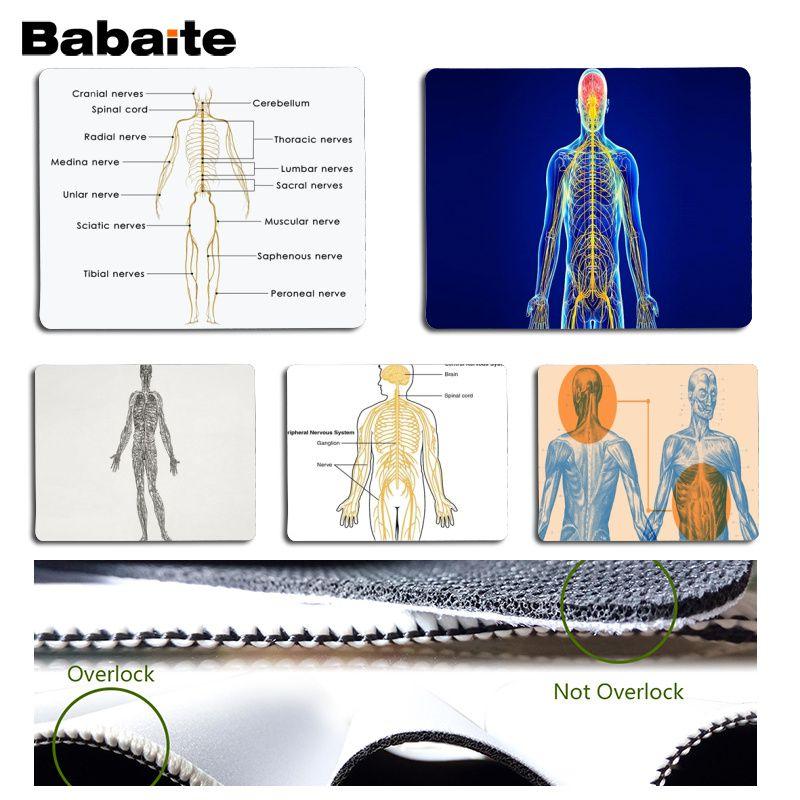 Babaite Vintage Cool Nervous System Durable Rubber Mouse Mat Pad Size for 18x22cm 25x29cm Rubber Mousemats