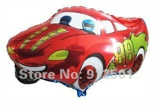 $10 off per $100 order HOT SALE ! 50pcs/lot  car Foil balloons, helium balloons . size 66*41cm  free  shipping  by china post