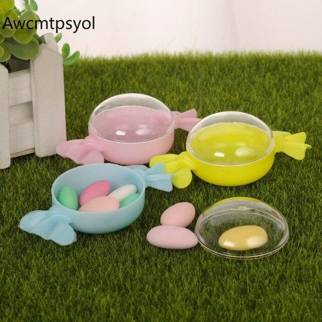 9*5*3 cm Sáng Tạo Kẹo Hộp Nhựa Colorfull Quà Tặng Trong Suốt Túi Hộp cho Ủng Hộ Đám Cưới Bé Tắm sinh nhật Nguồn Cung Cấp Bên