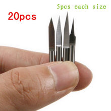 20pcs 10 15 20 30 degree 3.175mm Carbide PCB Engraving Bits CNC Router Tool 0.1mm(China (Mainland))