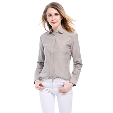 EYM Brand 2018 New Women Blouse Shirts Oxford Cotton Long Sleeve Ladies White Casual Shirt Plus Size Blouses Female Clothes Tops