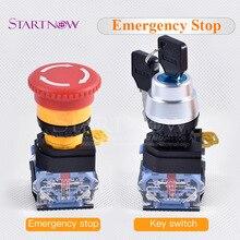 Красный грибной колпачок аварийной остановки переключатель DPST N/C кнопочный переключатель 440 В AC15 10A DC13 для лазерной резки