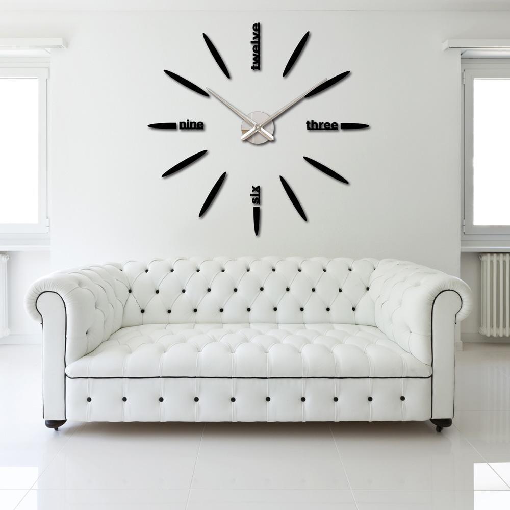 2016 Diy Home Decoration Large Watch Wall Clock Decor Modern Design Creative Bullet Stickers Mirror Eva Effect Acrylic Gl In Clocks From