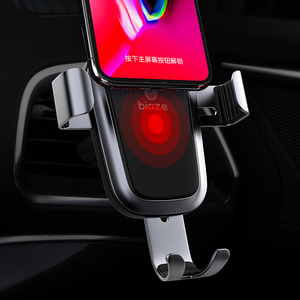 Image 2 - Biaze Car Air Vent Mount Qi Wireless Charger For iPhone XS Max X XR 8 Fast Charging Car Phone Holder For Samsung Note 9 S9 S8