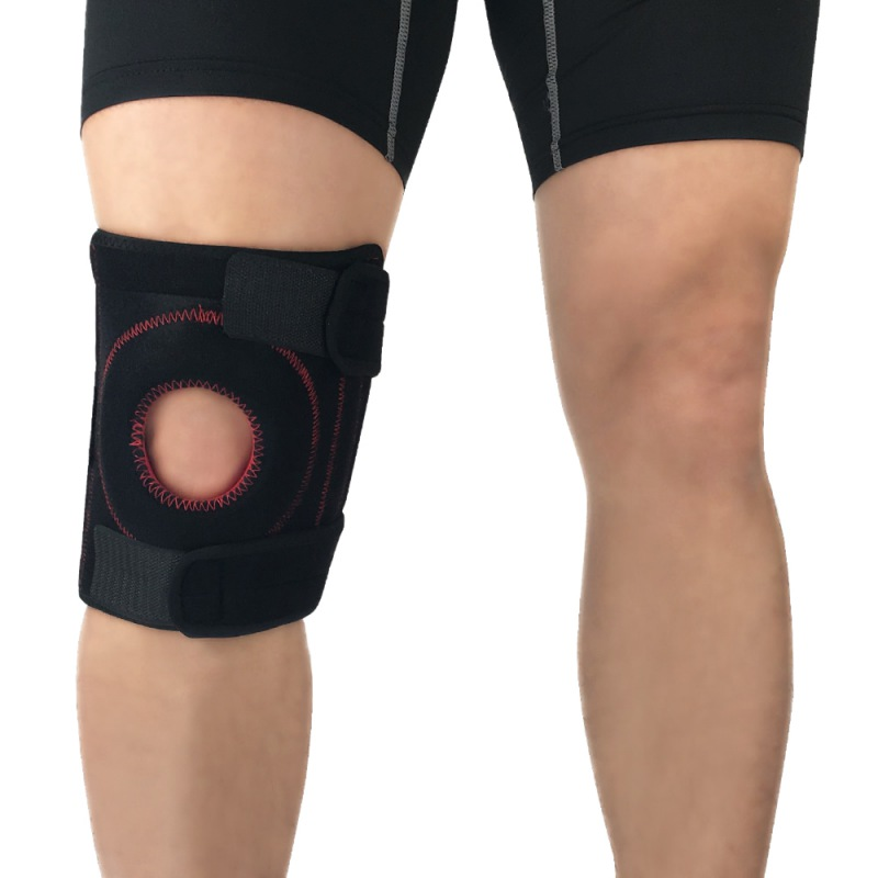 1pc Knee Support Pad Wrap Sleeve Neoprene Adjustable Anti-slip Anti-bump Shock Absorption Outdoor Fitness Leg Protector Hot Sale