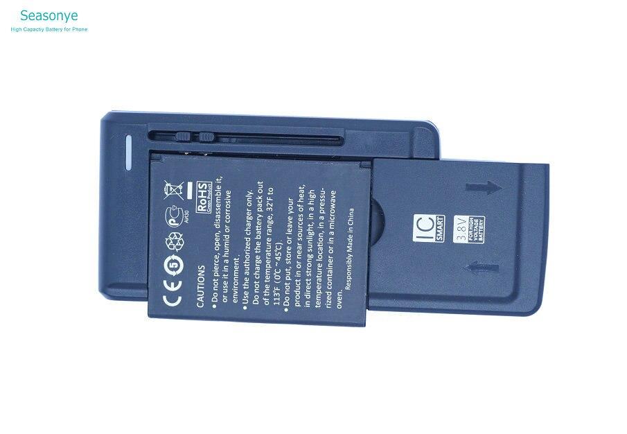 Seasonye 1500mAh Phone Replacement Battery + Universal Charger For Prestigio PAP4300 DUO PAP4300DUO Batterie Bateria Batterij