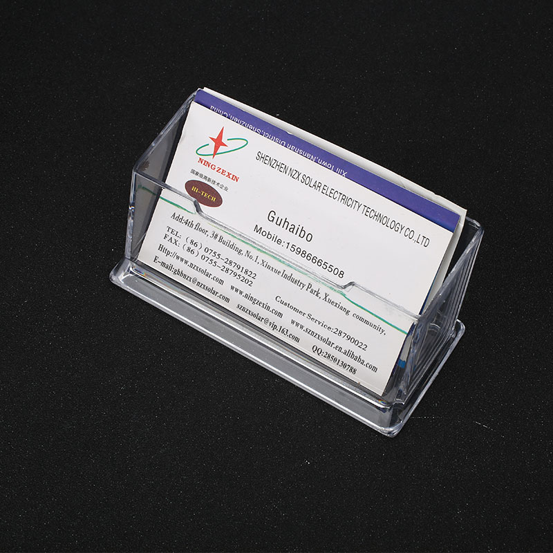 Transparent Clear Plastic Business Card Holder Office Counter ...
