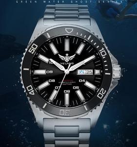 Image 4 - טריטיום שעון T100 Yelang גברים אוטומטי עמיד למים 300m יפן תנועה עליונה 24 תכשיטים לסובב חיוג תאריך יום לשחות צולל שעון
