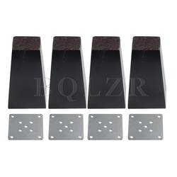 BQLZR 4 штук черного дерева трапециевидной диван стул ноги мебель нога часть 7,4x5x12 см