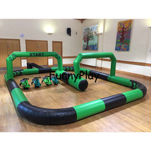 Inflatable race track Inflatable go kart track inflatable sport games for bike kids toy outdoor cars race track for sale tanie tanio 3 Years Inflatable Playground Outdoor Playground 210D oxford pvc tarpaulin yellow green red black white No need blower work all the time