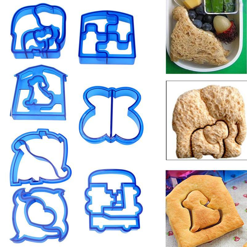 Bakeware Kitchen,dining & Bar Puzzle Shape Sandwich Mould Cutter Dolphin Star 8pcs Stainless Steel Fruit Molds 6pcs Plastic Toast Bread Moulds Cutters