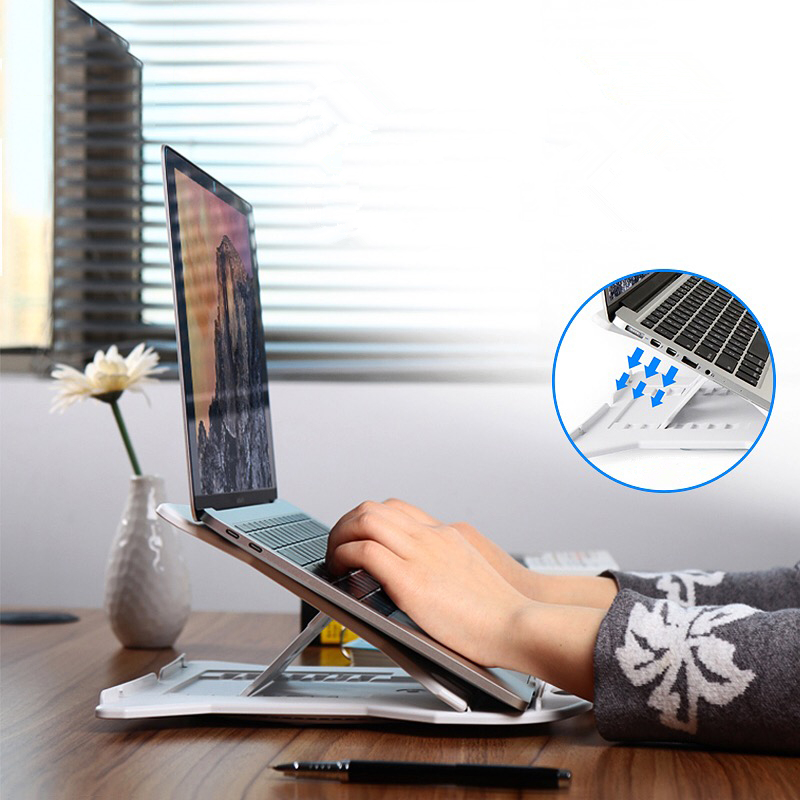 цена Foldable Adjustable ABS Laptop Stand Holder 11-17