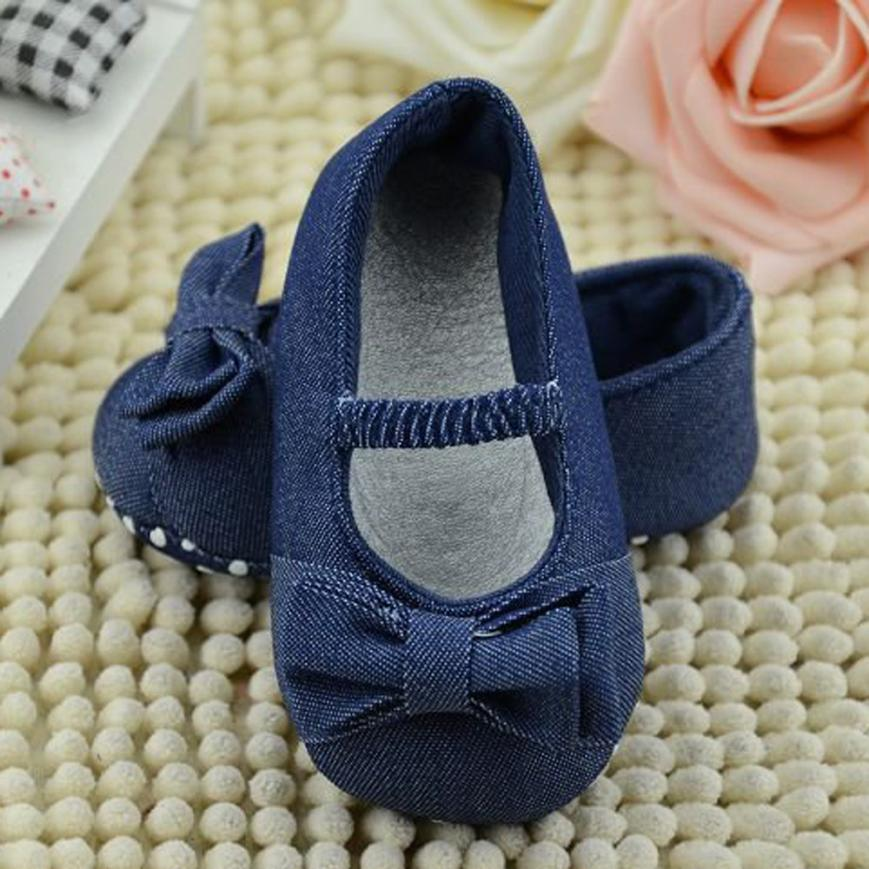 Copodenieve Kids Shoes For Girl Baby Bowknot Denim Toddler Princess First Walkers Girls Kid Shoes Tipsietoes