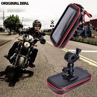 Suporte universal de celular para motocicleta  apoio de telefone para bicicleta  à prova d'água  suporte de montagem  com 2 espaços para cartões