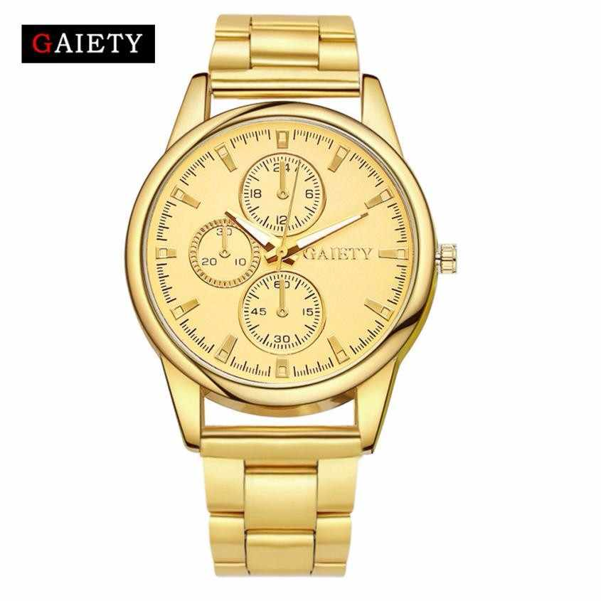 GAIETY Gold Men and Women's 2017 Clocks Relojes Top Quality Luxury Leisure Wrist Watch Reloj Hombre Deportivo