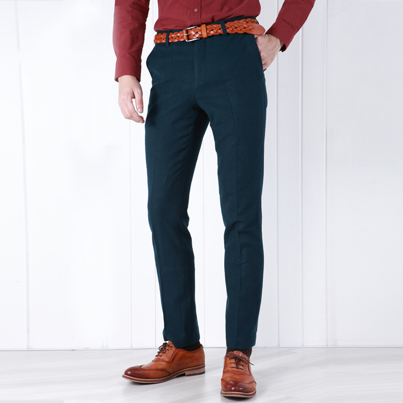 Aliexpress.com : Buy Pre Sale 95% Wool Warm Men Dress Pants Slim ...