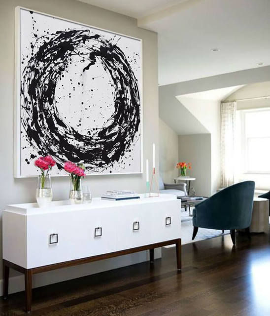 Original Extra Large Abstract Painting on Canvas Large Black and ...
