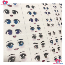 Free shipping Clay doll diy embroidery accessories eye stickers water sticker multi style figure eyes doll Handmade accessories