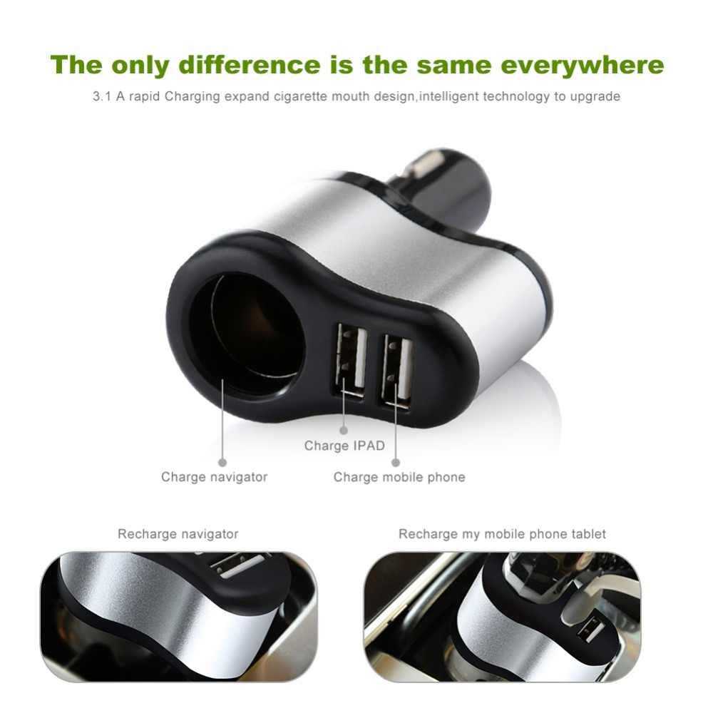 V-24 12 v Do Cigarro Do Carro Soquete do Isqueiro Splitter Plug do Carregador Dual USB Adapter 1A + 2.1A para iPhone samsung Para bmw peugeot passat VW