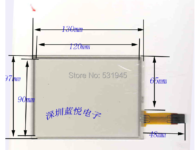ZhiYuSun 5 8 line resistor Touch Screen handwritten 130 96mm