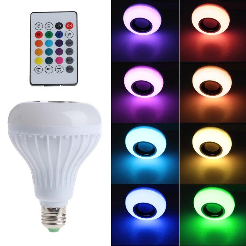 Ootdty Новый 2017 прибытие беспроводной <font><b>bluetooth</b></font>-динамик лампы <font><b>E27</b></font> <font><b>LED</b></font> RGB подсветкой Музыка играет лампы переменного тока 90-265 В лидер продаж