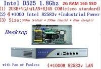 アトムd525ファイアウォールサーバデュアルコア1.8 ghzのデスクトップモード4 *インテル82538ボルト1000メートルネットワークサポートpfsense、wayosラム2グラムのssd 16グラ
