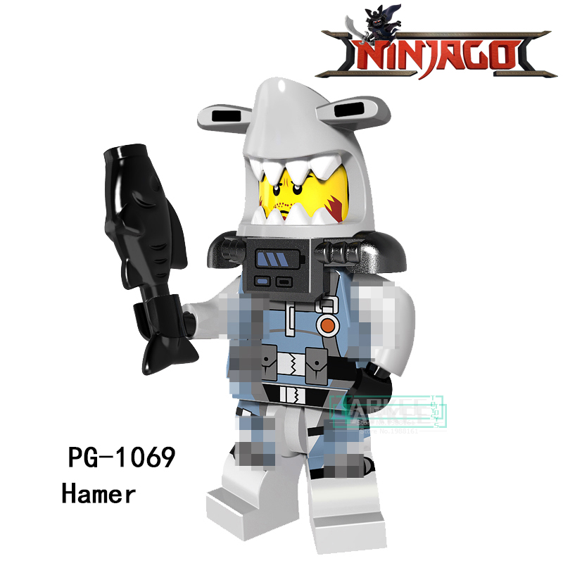 Building Blocks PG1069 Hamer Lantern Fish Lead Crab Hamer Puffer Super Hero Star Wars Bricks Dolls Kids DIY Toys Hobbies Figures building blocks firestorm captain booster cold elektra super hero starwars set bricks dolls kids diy toys hobbies pg8079 figures