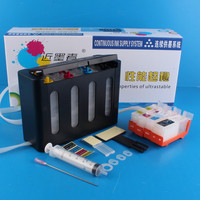 Universal 4Color Continuous Ink Supply System CISS kit with full accessaries bulk ink tank for CANON IX4000 IX5000 Printer CISS