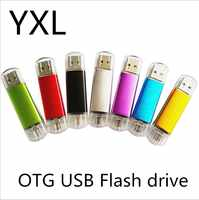 Color al azar usb OTG flash 64 GB 32 GB 16 GB Flash Drive 8 GB USB flash usb Pen Drive flash tarjeta de 128 GB usb pen drives 10PSC/1 bolso