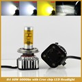 60W 6000LM/set 6000K H4 HB2 9003 H7 H8 H9 H11 9005 9006 HB3 HB4 with Chips LED BULBS CAR DRL FOG HEADLIGHT LAMP