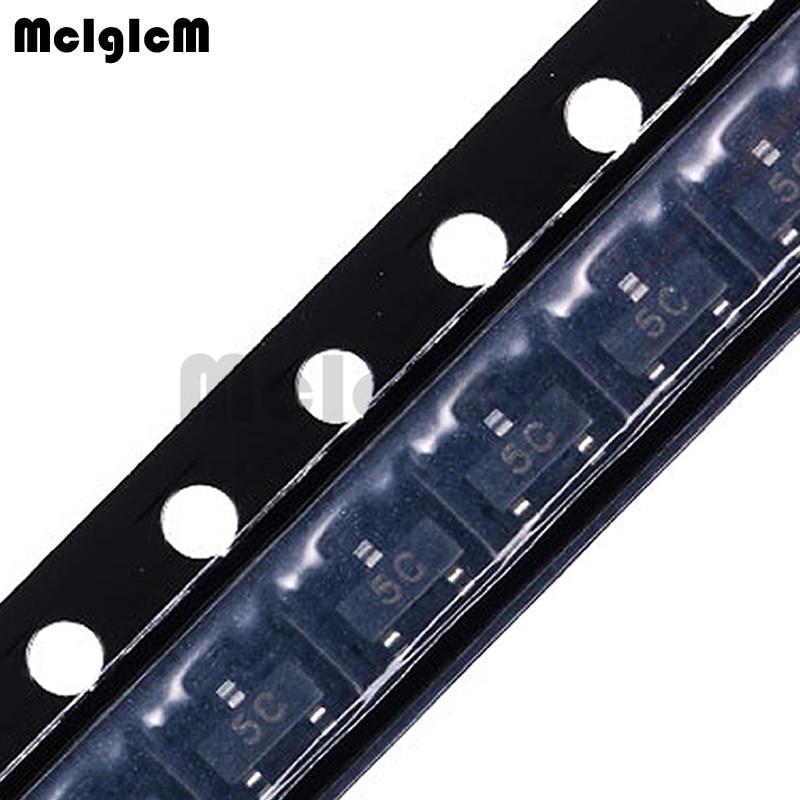 MCIGICM 100PCS BC807-40 5C PNP 500MA 45V SOT23 SOT-23 SMD Triode Transistor BC807-40LT1 BC807