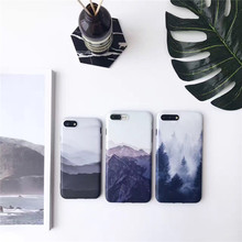 Luxury Clean Simple Novelty Painting Print Forest Cloud Silicone Mobile Phone Cases For iPhone7 7Plus 6 6Plus 6S 6Splus Coque