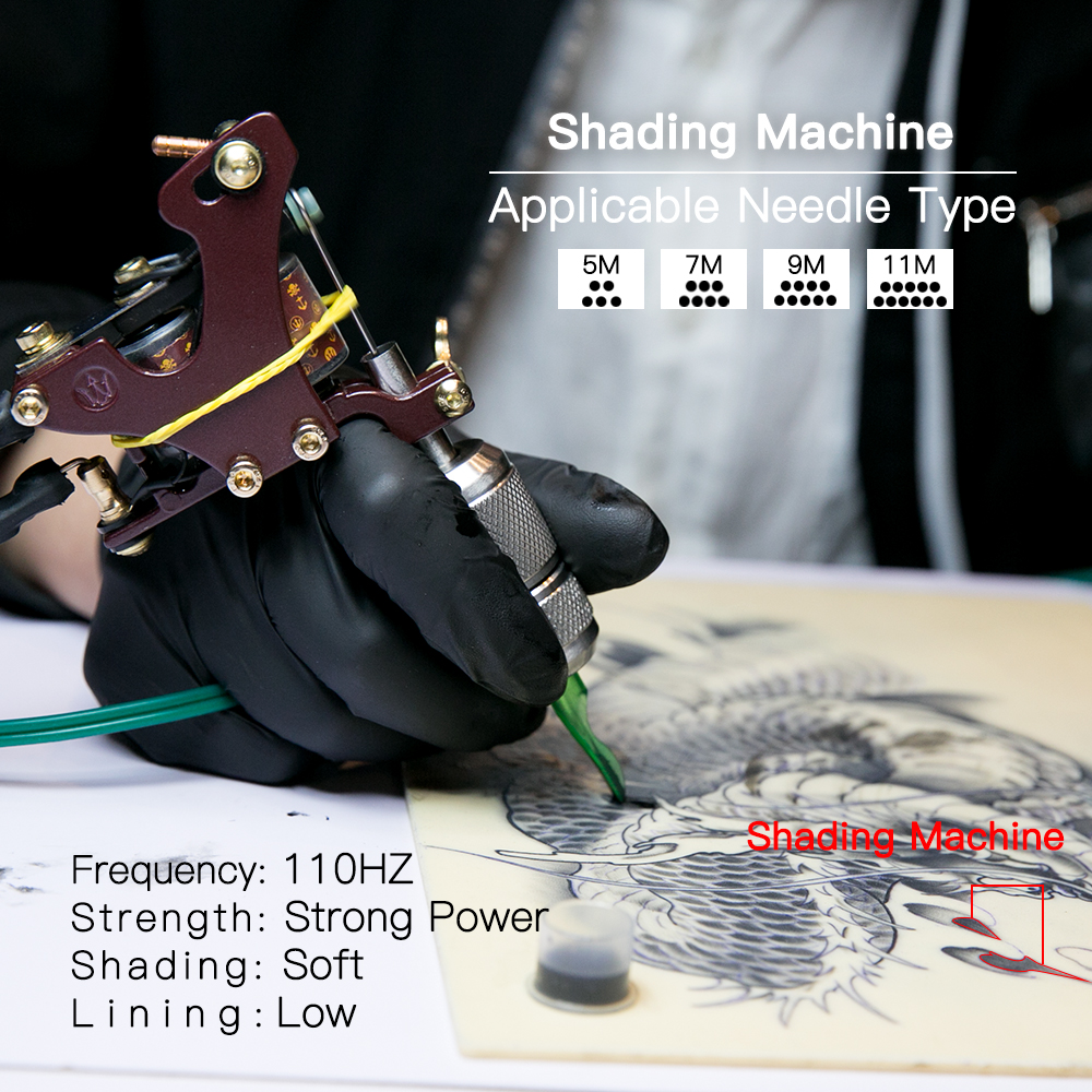 Top Quality Shading Tattoo Machine Artistlegering Frame Wrap Coils - Tatuering och kroppskonst - Foto 3