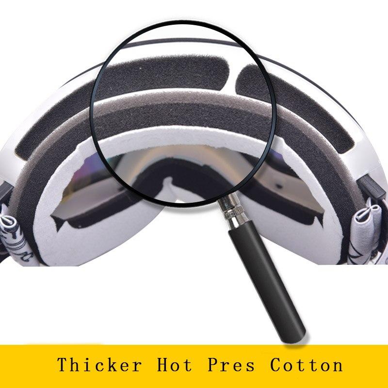 Marsnow lunettes de Ski Double UV400 Anti-buée lentille de Ski masque lunettes Ski hommes femmes enfants enfants garçon fille neige Snowboard lunettes - 4