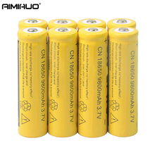 AIMIHUO 18650 3.7V 9800mAh Li-ion Rechargeable Battery For Flashlight Headlamp Lithium ion 18650 Battery 1/2/4/6/10Pcs Batteries 1x wama 8000mah 3 7v li ion 4 series 4s 18650 rechargeable battery packs for emergency headlamp led flashlight 4 in parallel