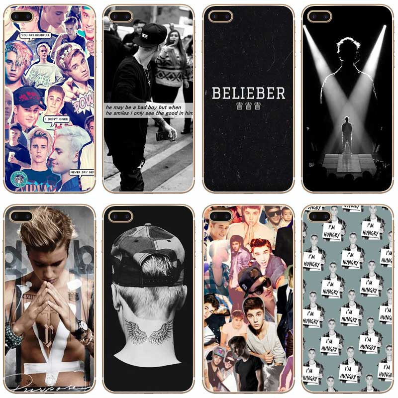 H102 Justin Bieber Transparent Hard Thin Case Cover For Apple iPhone 4 4S 5 5S SE 5C 6 6 ...