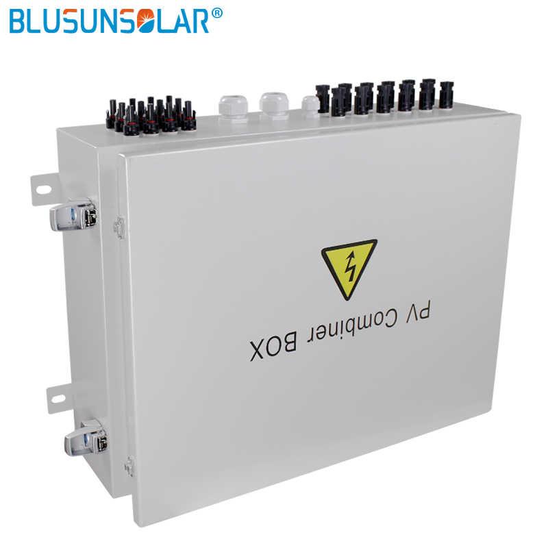 12 String input output Array Fotovoltaik Surya PV Combiner Box 1 string untuk dari grid sistem energi surya