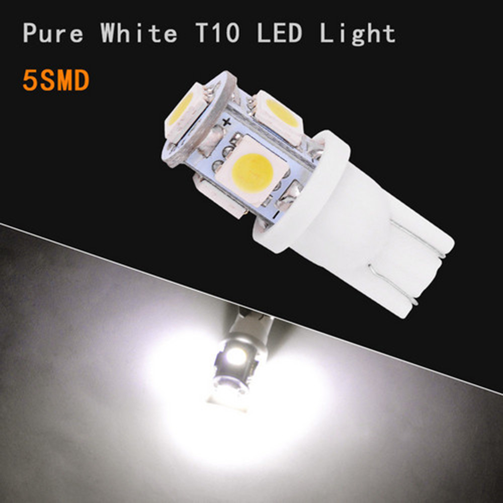Image 3 - 100PCS New Super Bright White Side Wedge 5 SMD 5050 LED Interior Light 168 194 2825 W5W Free Shipping-in Car Headlight Bulbs(LED) from Automobiles & Motorcycles