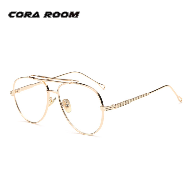 2ca1140bb7 2017 Vintage Eyeglasses Gold Glasses frames Clear Lens Glasses Frame Women  Men Optical Myopia Glasses female Eyewear Oculos