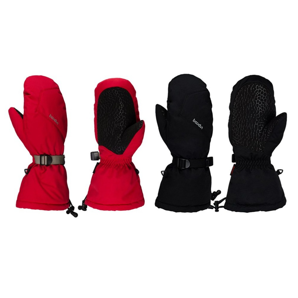 BOODUN Winter Skiing Gloves Waterproof Windproof Non-slip Snow Skating Gloves Lengthen Thick Warm Gloves Mittens for Men Women