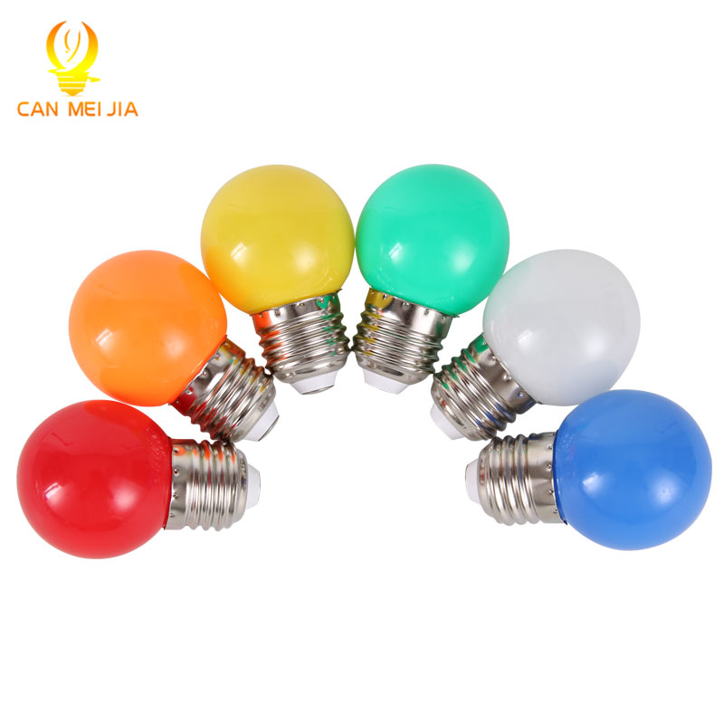 Canmeijia led Home Lighting Colorful Led Bulbs Light E27 3w LED Energy Saving  Lamp Lights Bulb LEDs Decoration